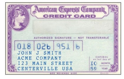 American Express Card, 1959 год