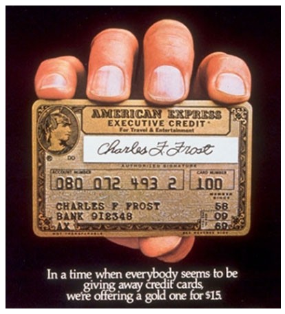 American Express Executive Card, 1968
