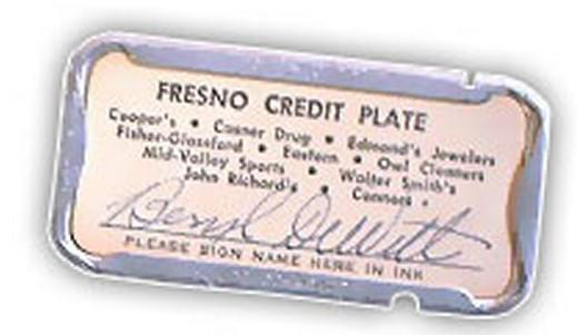 Fresno Credit Plate