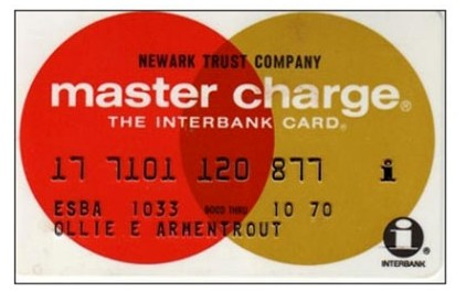 Master Charge Card, 1970