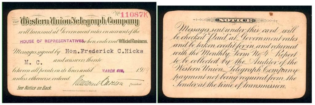 Western Union Telegraph Company 1919